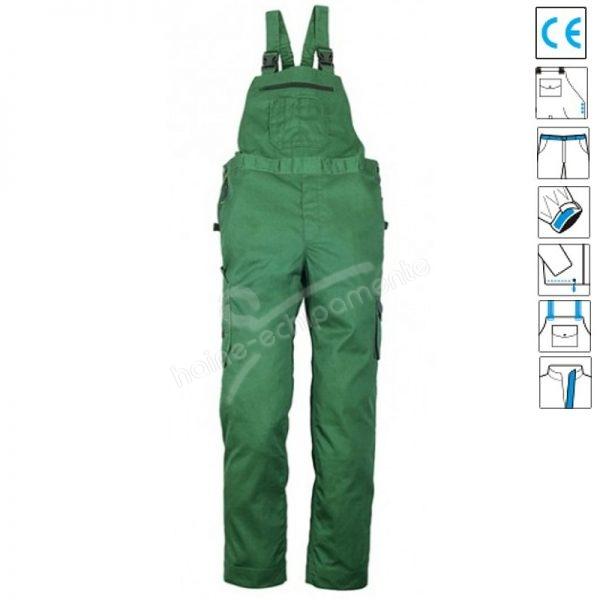Pantalon cu pieptar Technicity green