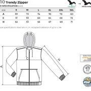 Tabel marimi Hanorac barbat Trendy Zipper