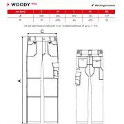 Tabel marimi Pantaloni de lucru barbati Rimeck Woody