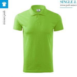 Tricou polo Single J., culoare verde mar