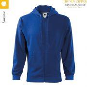 Hanorac barbati Trendy Zipper, albastru regal