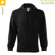 Hanorac barbati Trendy Zipper, negru