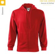 Hanorac barbati Trendy Zipper, rosu