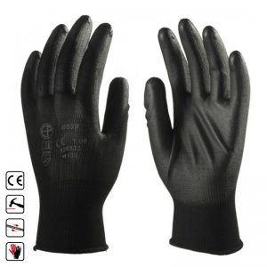 604 Manusi din poliester tricotate, elastice, rezistenta mare negru