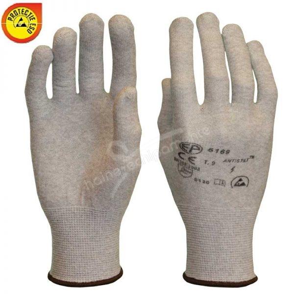6180 Manusi tricotate, elastice, din fibre poliamida cu fibre de carbon