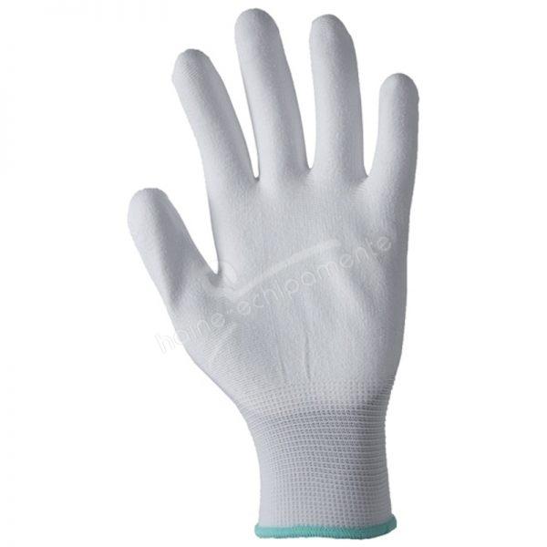 A9003 Manusi impregnate cu poliuretan, culoare alb