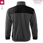 Jacheta gri metalic din fleece, model unisex, HI-Q