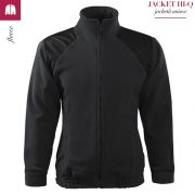 Jacheta ebony gray din fleece, model unisex, HI-Q