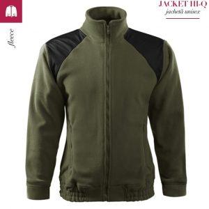 Jacheta kaki din fleece, model unisex, HI-Q
