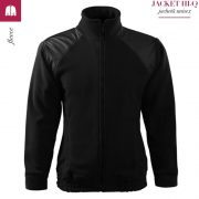Jacheta neagra din fleece, model unisex, HI-Q
