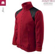 Jacheta rosu marlboro din fleece, model unisex, HI-Q