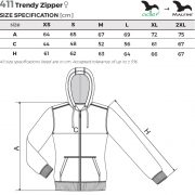 Tabel pentru marimi Hanorac dama Trendy Zipper