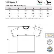 Tabel pentru marimi tricou Basic copii