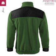 Jacheta verde sticla din fleece, model unisex, HI-Q