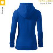 Hanorac dama Trendy Zipper, albastru regal