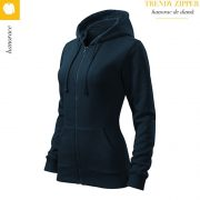 Hanorac dama Trendy Zipper, bleumarin