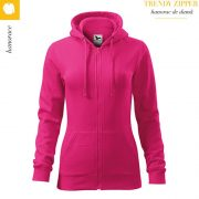 Hanorac dama Trendy Zipper, roz