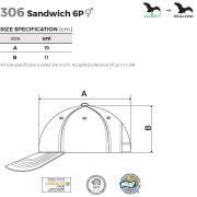 Tabel marimi Sapca unisex sandwich 6P