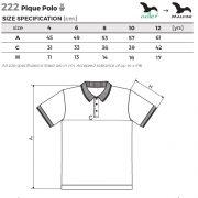 Tabel marimi Tricou copii Pique Polo