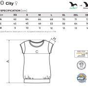 Tabel marimi Tricou dama City