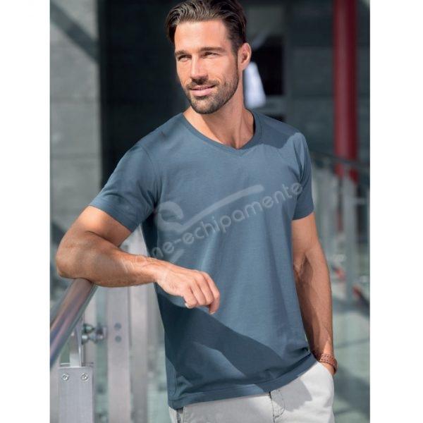 Tricou pentru barbati Slim Fit V-neck