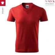 Tricou unisex V-Neck, culoare rosu