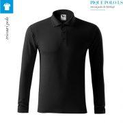 Bluza negru polo barbati, Pique Polo