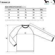 Tabel marimi Bluza barbati STREET LS