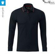 Bluza polo, model bleumarin, pentru barbati, Contrast Stripe LS