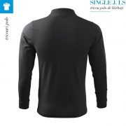 Tricou polo barbati cu maneca lunga Single J., ebony gray