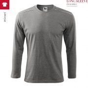 Tricou unisex Long Sleeve, gri inchis