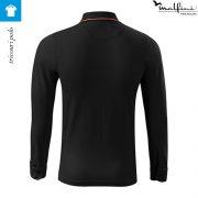 Bluza polo, model negru, pentru barbati, Contrast Stripe LS