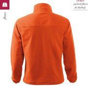 Jacheta portocaliu din fleece pentru barbati, Jacket