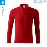 Bluza rosu polo barbati, Pique Polo