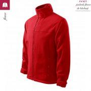 Jacheta rosie din fleece pentru barbati, Jacket
