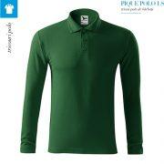 Bluza verde sticla polo barbati, Pique Polo