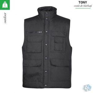 Vesta neagra de iarna, barbati, Tony