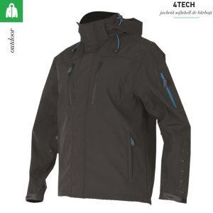 Jacheta neagra barbati, 4Tech