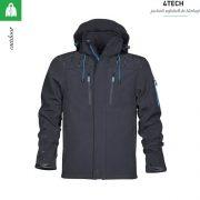 Jacheta neagra, softshell, pentru barbati, 4TECH