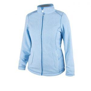 Jacheta fleece pentru dama YVONNE, culoare albastru deschis