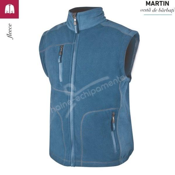 Vesta albastra fleece barbati, Martin