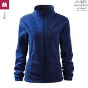 Jacheta albastru regal fleece de dama, Jacket