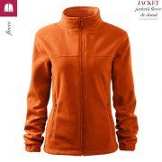 Jacheta portocaliu fleece de dama, Jacket