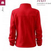 Jacheta rosu fleece de dama, Jacket