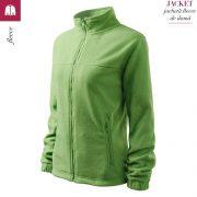 Jacheta verde iarba fleece de dama, Jacket