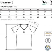 Tabel marimi tricou dama Dream