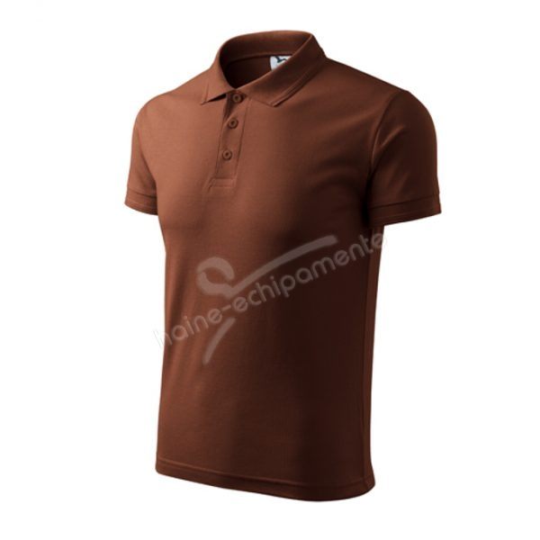 Tricou barbati POLO PIQUE, culoare ciocolatiu