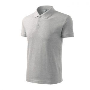 Tricou barbati POLO PIQUE, culoare gri deschis