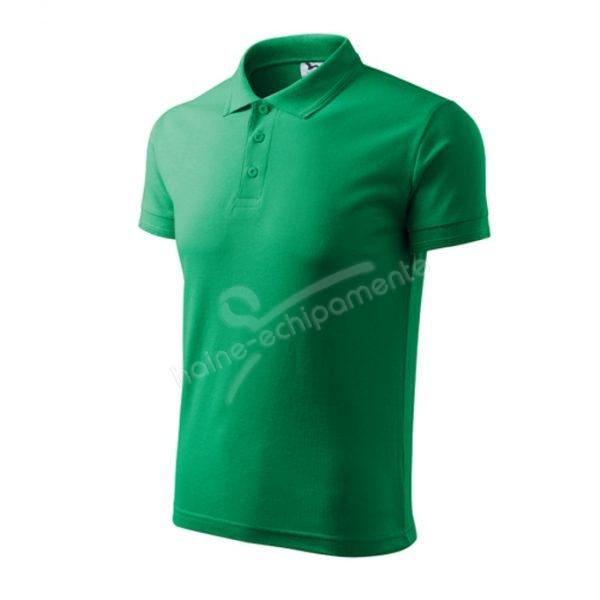 Tricou barbati POLO PIQUE, culoare verde mediu