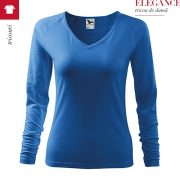 Tricou cu maneca lunga de dama Elegance, albastru azuriu
